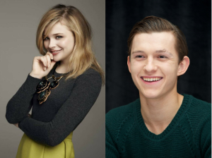 Chloe Grace Moretz as Jill Pole and Tom Holland as Eustace Scrubb